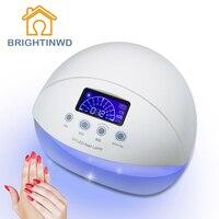 50W UV Lamp Nail Polish LED Purple Light 100 240V EU Plug 30S 60S 90S Timer Drying Fingernail Toenail BRIGHTINWD