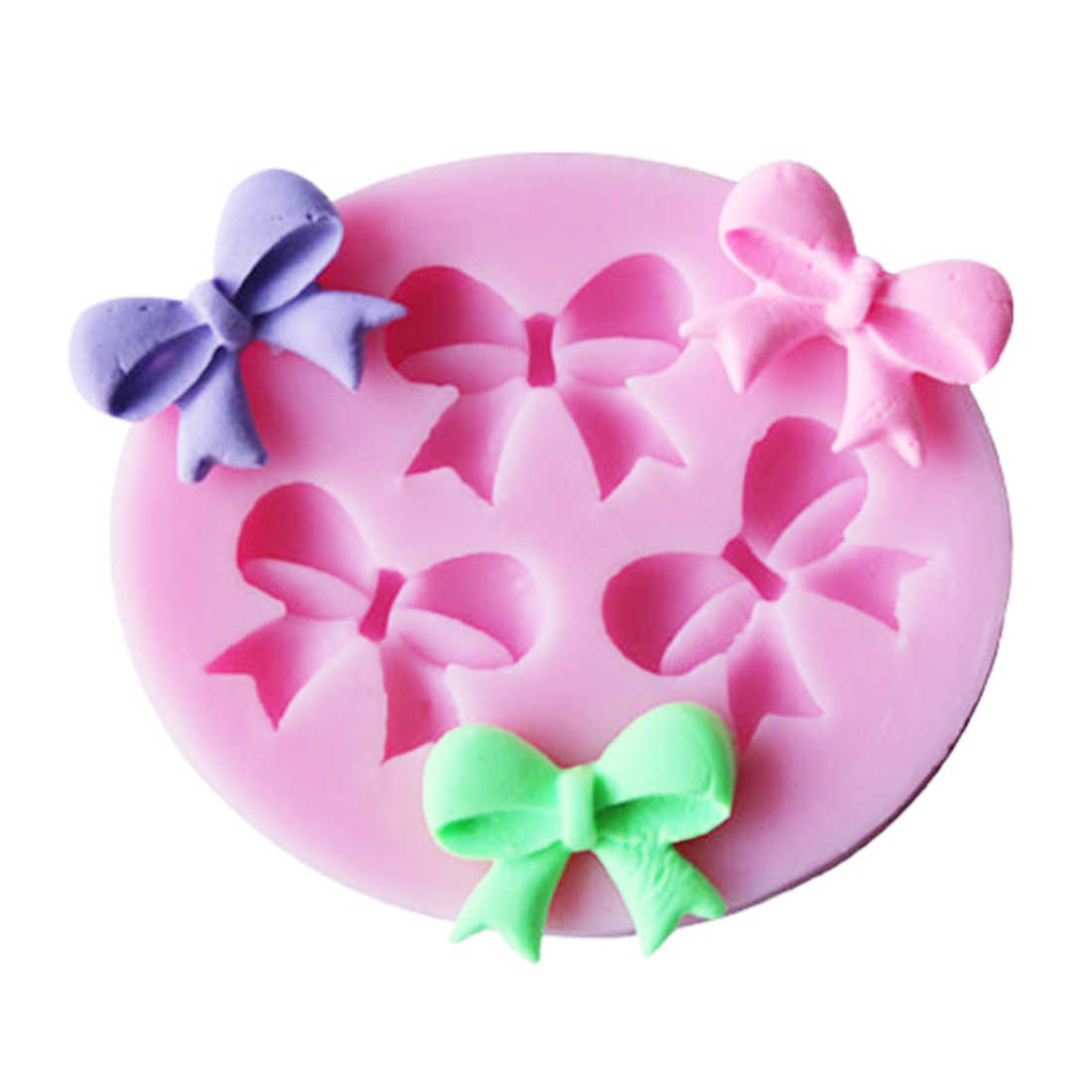 1pc Cake Mold Bowknots Flower 3D Fondant Mold Silicone Cake Decorating Tool Chocolate Soap Stencils Kitchen Baking Accessories