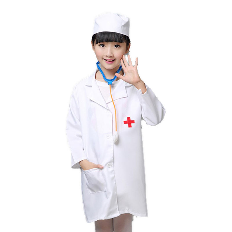 Carnival Purim nurse clothes cosplay nurese set uniform costume for kids girl party