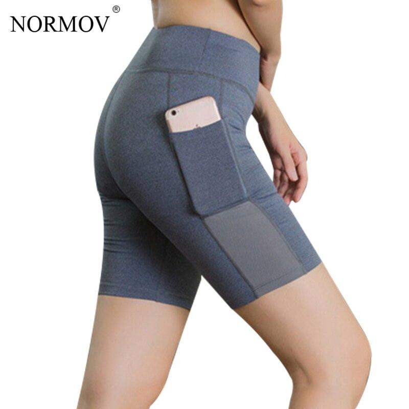 NORMOV Feste Beiläufige Hohe Taille Shorts Frauen Sommer Tasche Schweiß Shorts Weibliche Fitness Kleidung Dünne Sweat Shorts 6 Farbe