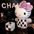 Diamante de lujo de navidad de hello kitty banco de la energía de batería externa del cargador del teléfono 10000 mah para el iphone para samsung doogee x5 bq e5