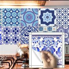 Chinese Blue White Porcelain 3D Tile Wall Stickers For Bathroom Kitchen Floor PVC Self-adhesive Waterproof Art Decal Wallpaper 3d floor wallpaper ocean theme creative 3d floor pvc waterproof self adhesive for kitchen bathroom