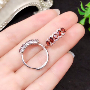 Image 5 - CoLife Jewelry anillo granate de plata 925 para niña, 5 piezas, anillo plata granate Natural VVS, joyería de granate de plata, regalo de cumpleaños