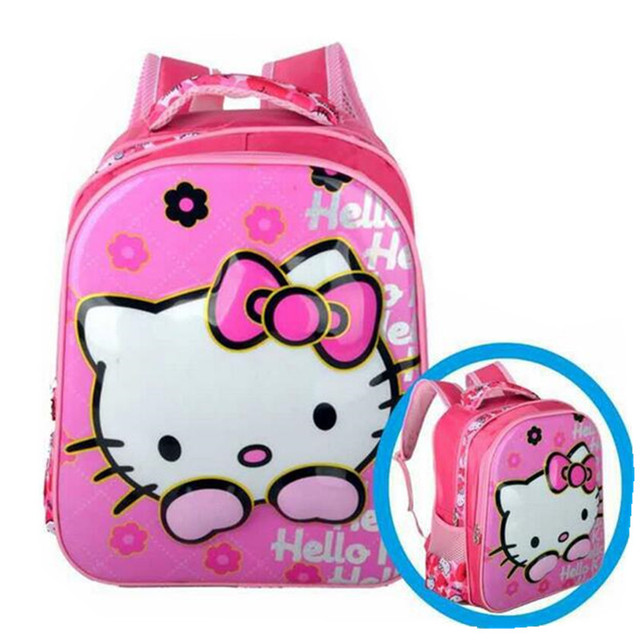 Hello Kitty School Bag for Girls Boys Snow White Sofia Kindergarten School  Backpacks Children Schoolbag Bookbag Mochila Infantil b49844665a8fa