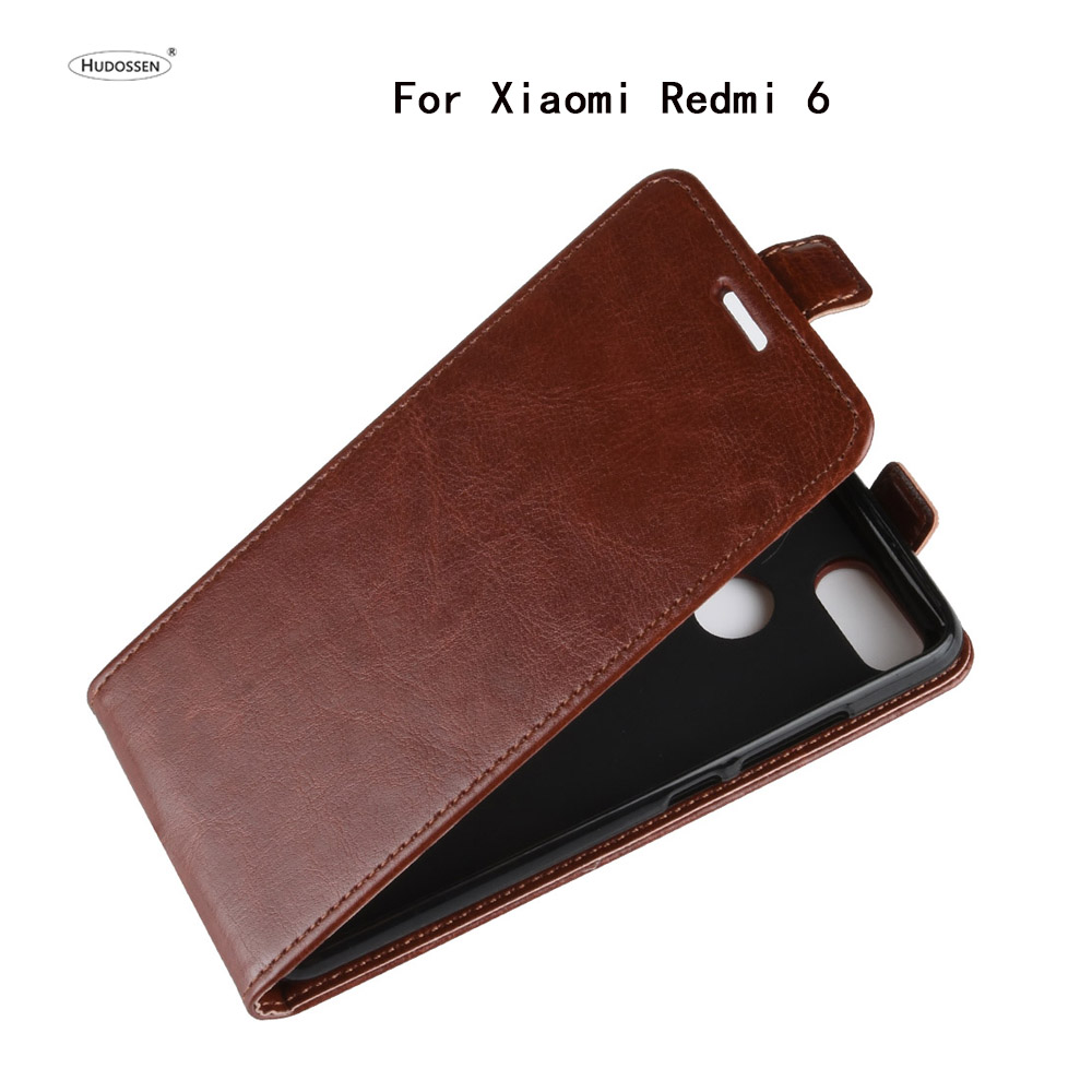 HUDOSSEN For Xiaomi Redmi 6 Case Luxury Flip PU Leather Silicone font b Phone b font