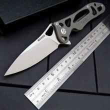 High Quality Maker 3 design Original ceramic ball bearing Flipper folding knife S35vn TC4 Titanium handle camping hunting knife
