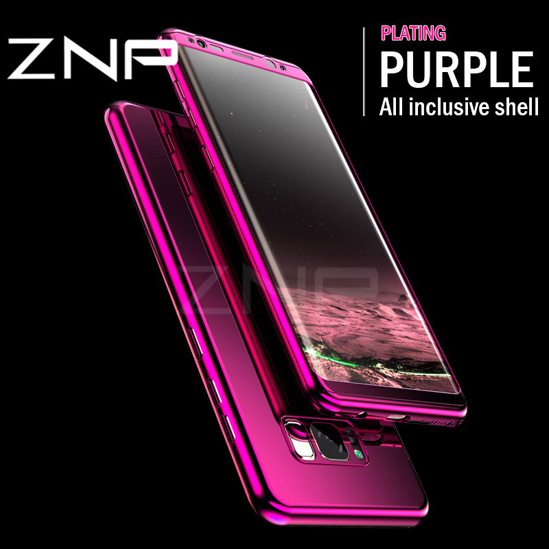 ZNP 360 Full Protection Case <font><b>For</b></font> <font><b>Samsung</b></font> <font><b>Galaxy</b></font> S7 <font><b>Edge</b></font> Note 8 Luxury Bling Mirror Phone Cover <font><b>For</b></font> <font><b>Samsung</b></font> S8 <font><b>Plus</b></font> S8 S7 Case