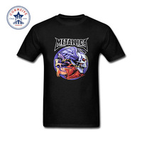 2017 Hipster Basic Tops Funny Metallica Skull Print Heavy Metal Rock Funny Cotton T Shirt For