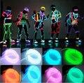 Lo nuevo 3 M Led Flexible Neon Light Glow EL Tubo de La Cuerda Del Cable + Battery Controller LED Resistente Al Agua Zapatos ropa Ligera