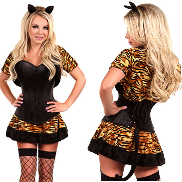 Luxury Leopard Tiger Cat Costume Halloween Sexy Corset Dress Role Play Costumes Women Adults Animal Party  sc 1 st  AliExpress.com & Luxury Leopard Tiger Cat Costume Halloween Sexy Corset Dress Role ...