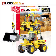 2016 New 117pcs/set DIY Building Blocks Toy Bulldozers Action Figure Deformation Toys Children Educational Toy Kids Gifts