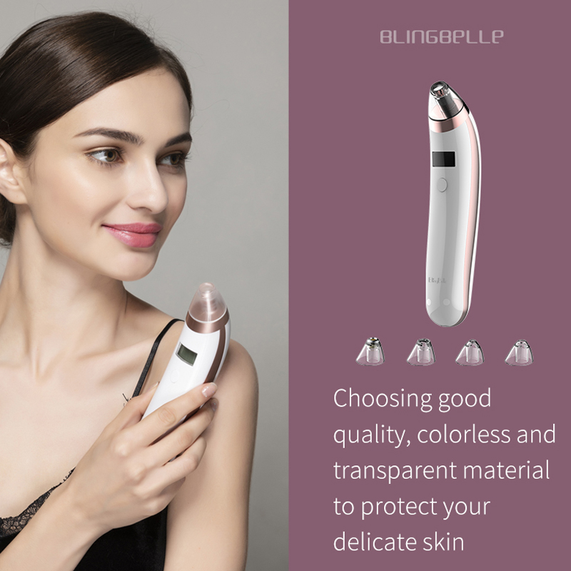 BlingBelle Vacuum Blackhead Remover Acne Suction Machine Remover Blackhead Pore Vacuum Cleaner Usb Charge Beauty Instrument in Face Skin Care Tools from Beauty Health