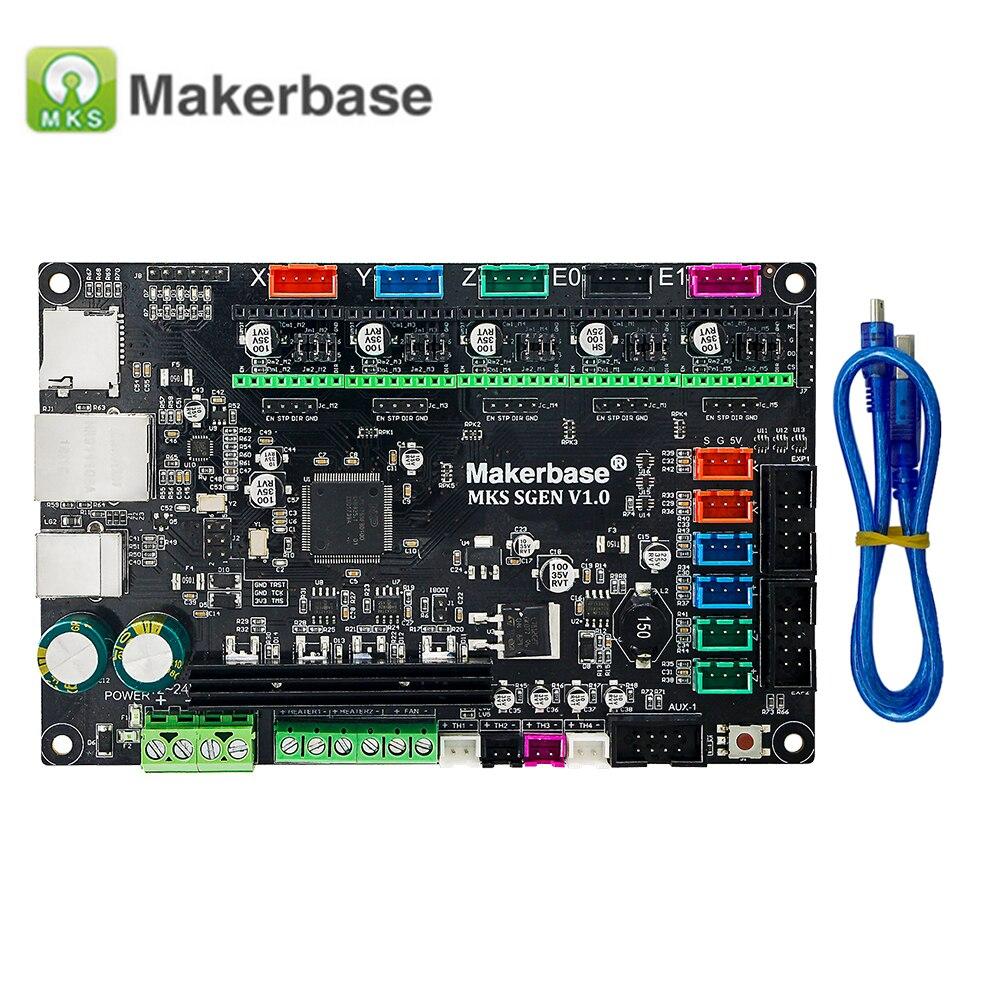 Carte de contrôleur lisse MKS SGen 32bit carte de contrôleur Open Source Support de lissage DRV8825/LV8729/TMC2208/TMC2100 MKS SBASE amélioré