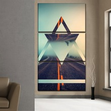 Modular Picture Canvas HD Prints 5 Pieces Abstract Landscape Road Painting Modern Artwork Poster Home Decor Wall Art Framework