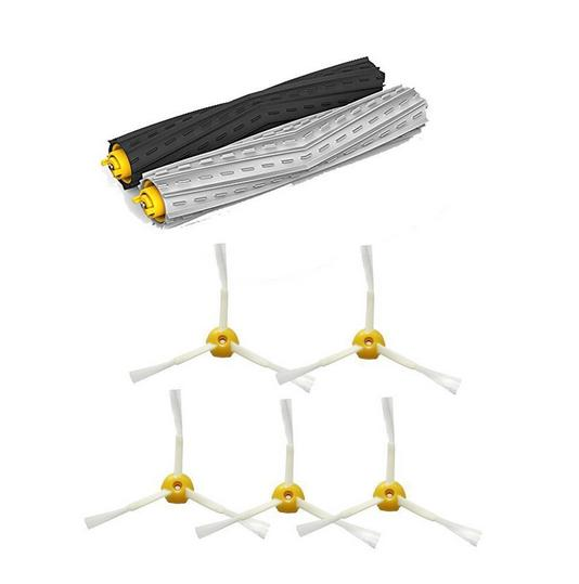 1 set Tangle-Free Debris Extractor Brush + 5 side brushes kit for iRobot Roomba 800 900 860 864 870 880 980 replacement parts