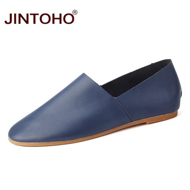 JINTOHO ขนาดใหญ่หนังผู้ชาย Unisex รองเท้าแบรนด์หรูผู้ชายรองเท้าแฟชั่นรองเท้าลำลองชายรองเท้าหนังผู้ชาย Loafers ผู้ชาย