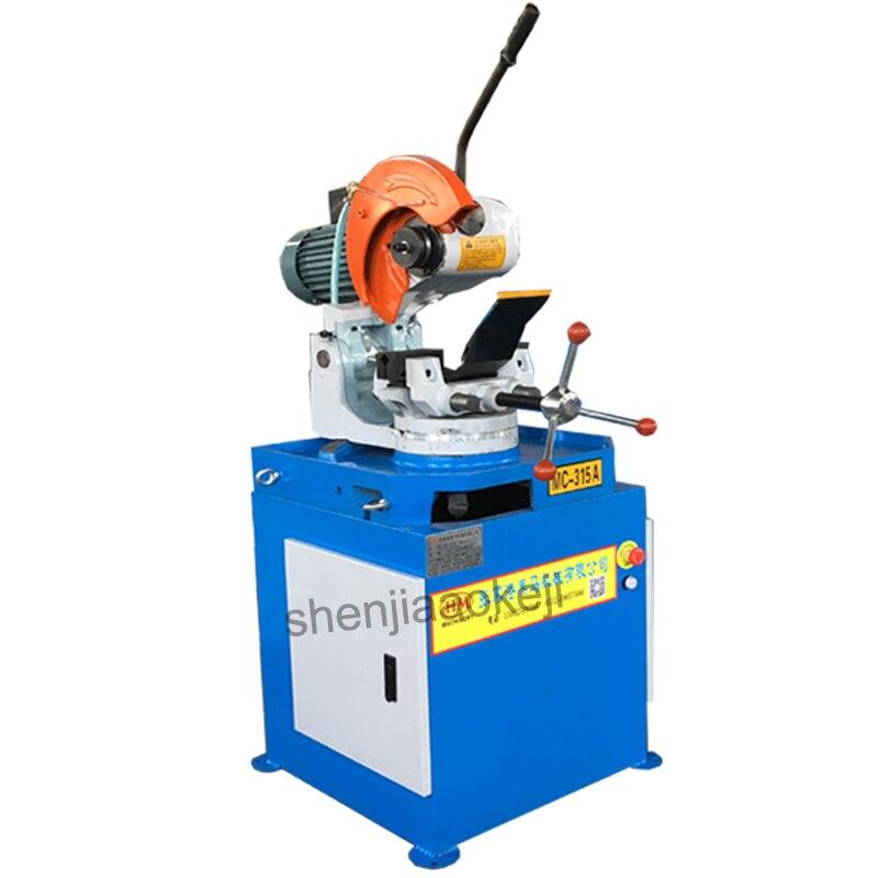 MC 315A металла циркулярная пила автомат руководство для резки трубы угол сократить 45 градусов/90 градусов ленточнопильный станок 60/120 об./мин.