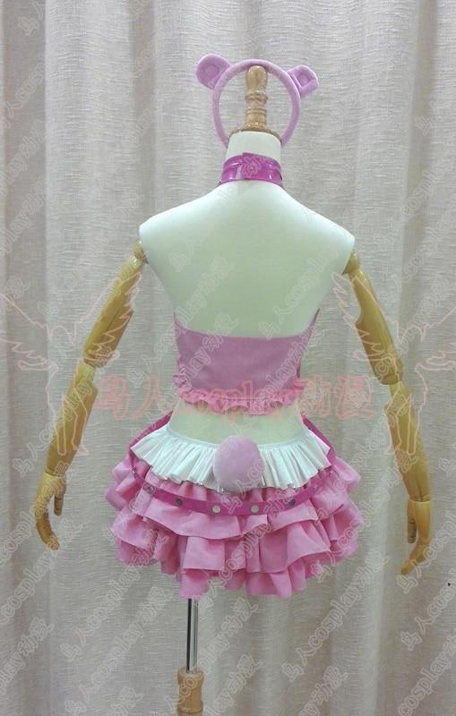 SUPER SONICO Racing Girl Uniform Pink Bear Gloomy Cosplay Costume Cos