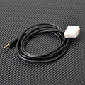New 39inch DIY Car AUX Audio CD Male Interface Adapter Cable 3.5mm for Mazda 2 3 5 6  MX5 RX8 2006 2007 2008 2009 2010 2012 2013