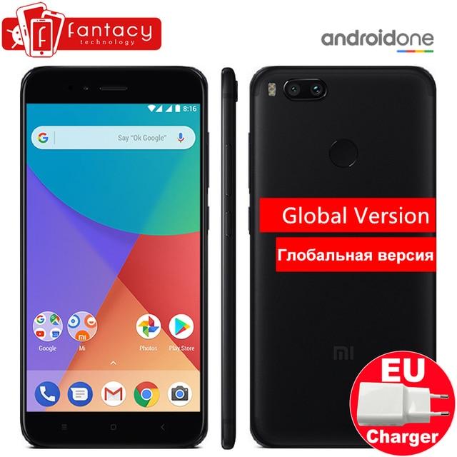 "Global Version Xiaomi Mi A1 MiA1 Snapdragon 625 Smartphone 4GB 64GB Fingerprint FDD 5.5"" Android One Dual 12.0MP Camera FCC CE"