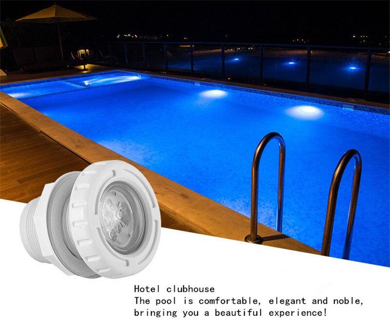 Luce subacquea Piscina di Acqua Luce 6 W Fontana Led Spa Massaggio Le Luci della Piscina Rgb Esterna Impermeabile 12 V 24 V galleggiante Spa Del Partito - 6