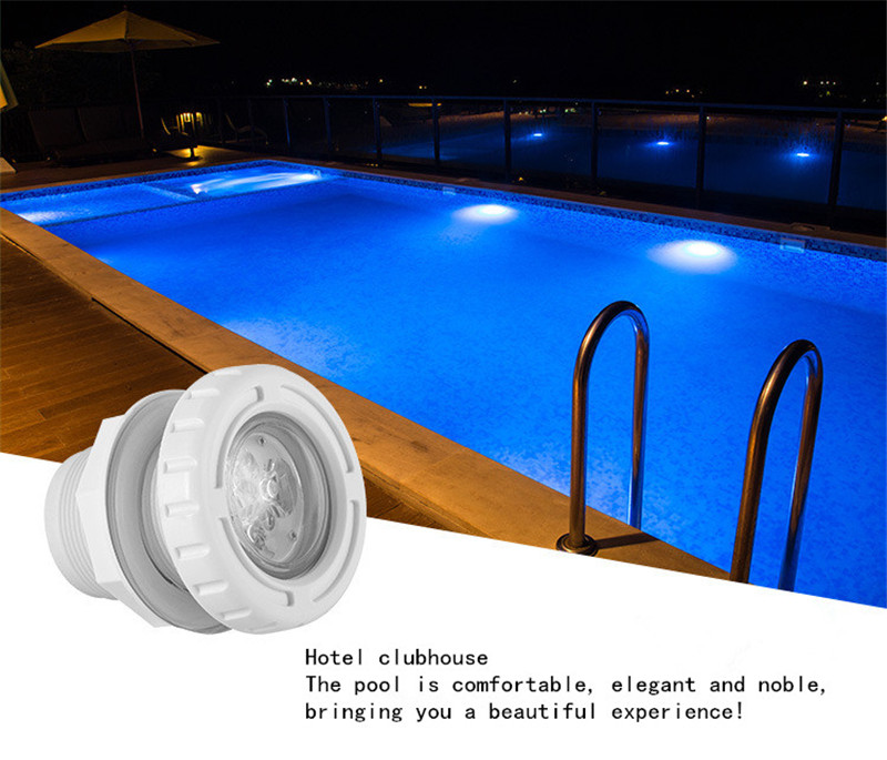 Luz subacuática piscina de agua 6 W luz fuente Led de masaje Spa piscina luces Rgb impermeable al aire libre 12 V 24 V flotante de fiesta Spa - 6