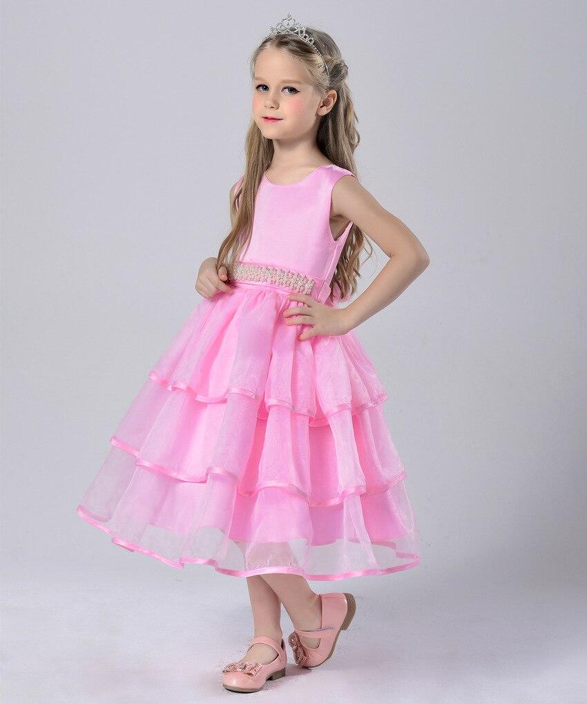 3 13y Niñas vestido de fiesta niños flor vestido de boda verde ...