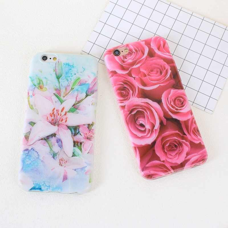 Thin Soft TPU Case For iPhone 6 6S 5S SE 5 S 7 7 Plus 8 Plus X XS Flower Fruit Strawberry Pattern Covers Phone Bags Cases Shell