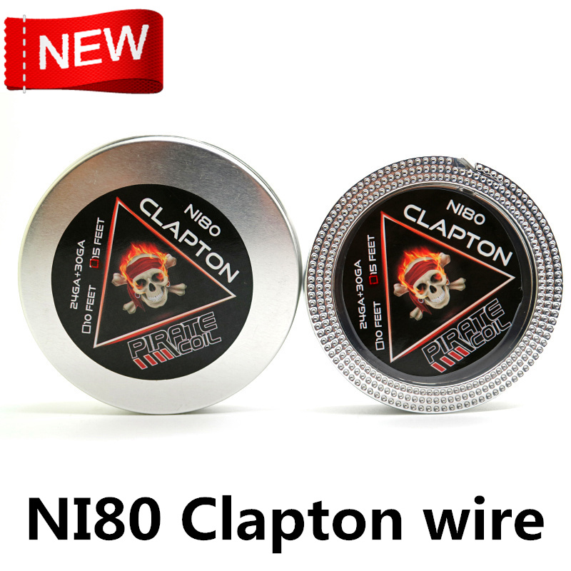 PIRATE COIL NI80 Fused Clapton Alien Heating Wires RDA RTA Prebuilt Clapton Coil DIY Tools 15Feet/roll