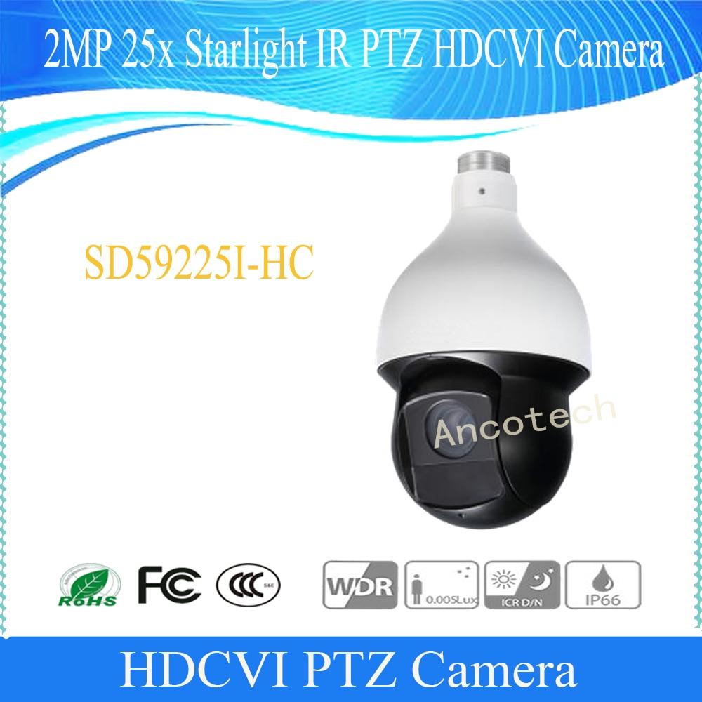 Original Dahua WDR Security CCTV English Version CMOS 2MP 25x Starlight IR PTZ HDCVI Camera Speed Dome Without LOGO SD59225I HC