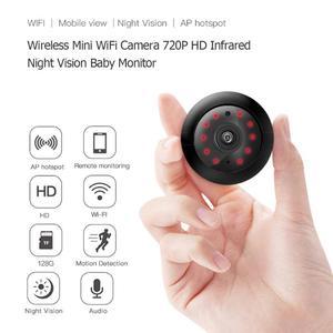 Image 2 - אלחוטי מיני WiFi מצלמה 720P HD וידאו חיישן אינפרא אדום ראיית לילה זיהוי תנועת מצלמת וידאו בייבי מוניטור אבטחת בית
