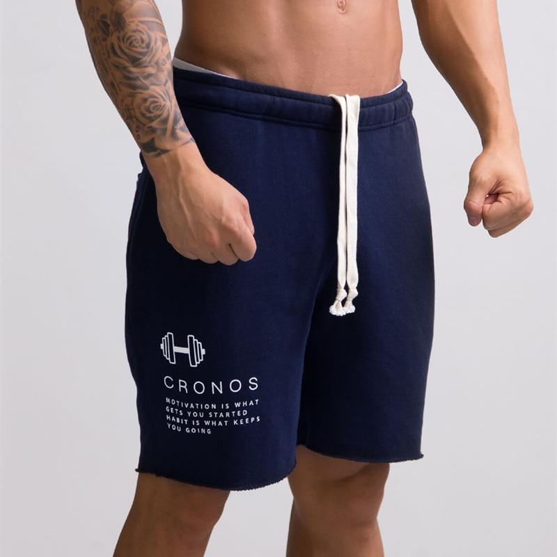 Men Casual Cotton Shorts Man Calf-Length Gyms Fitness Jogger Workout Bodybuilding Slim Short Pants Summer Male Beach Sweatpants