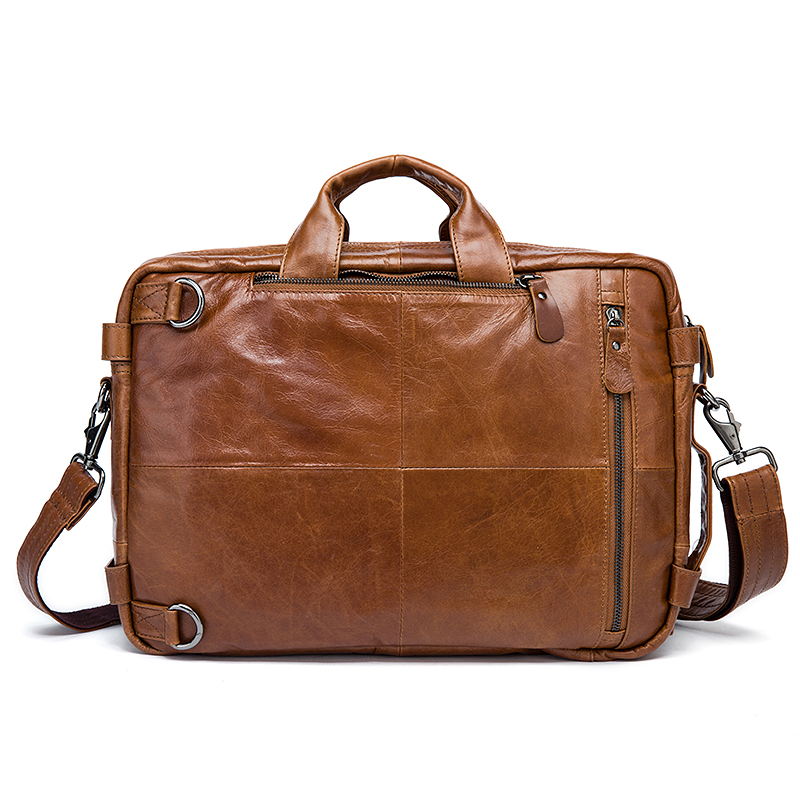 Image 2 - WESTAL Men's Briefcase messenger bag men leather briefcase male laptop bags men's genuine leather bag office bags for men totes-in Briefcases from Luggage & Bags