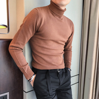 Hot Sale Men Sweater Brand New Winter Warm Casual Knitted Pullovers Men Long Sleeve High Collar Sweaters Men Turtleneck 3XL Sale