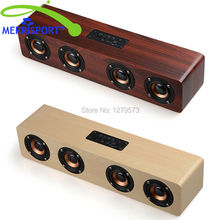 MERRISPORT Wooden Bookshelf Bluetooth Speakers Portable Wireless Speakers Enhanced Bass for iPhone iPad Samsung HTC TV Music Red