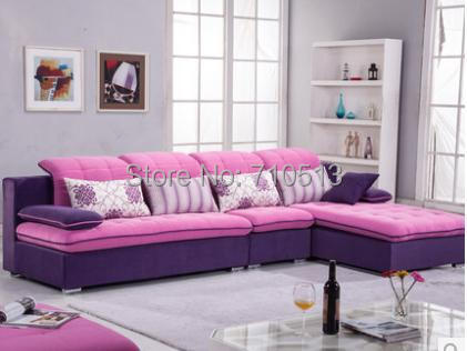 Top quality good design living room sofa set flocking fabric sofa ...