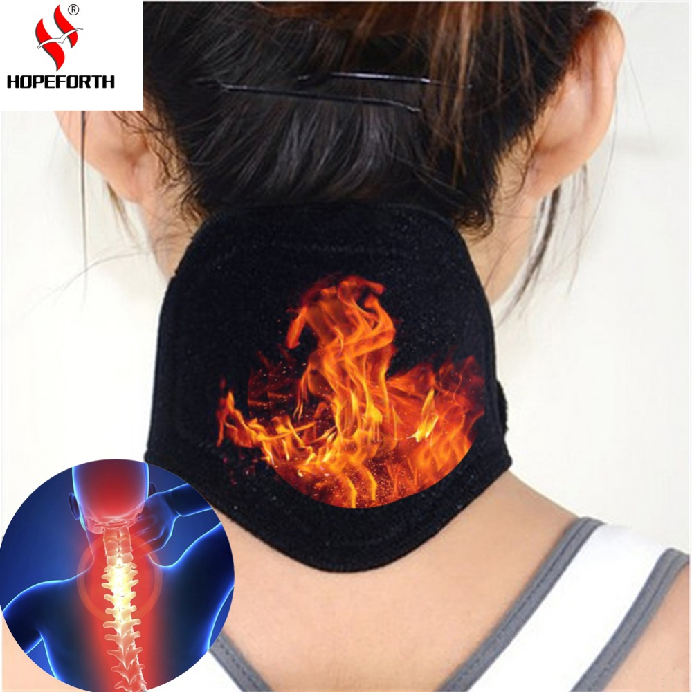 Tourmaline Neck Belt Self-heating Brace Magnetic Therapy Wrap Protect Band Neck Support Massager Belt