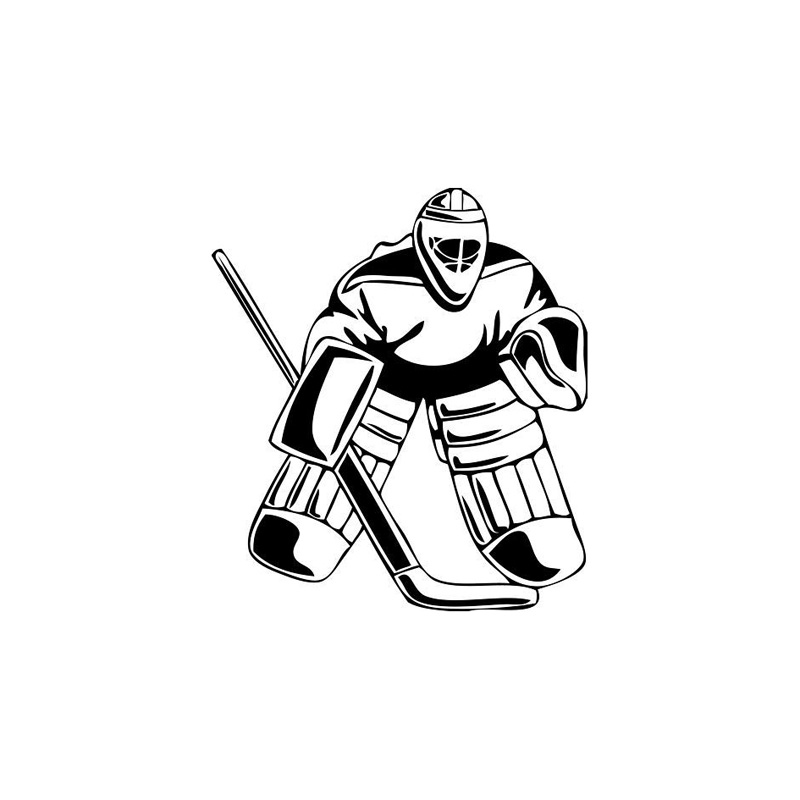 Aliexpress Com Buy 12 2 14cm Serious Hockey Goalie Car Stickers