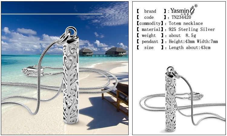 Naszyjnik ze srebra próby 925, etniczny słup totemiczny wzór wisiorka, specjalna biżuteria srebrna unisex, łańcuch węża mężczyzny lub pani, najlepsze prezenty