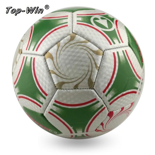 56b82870366 PVC Laser soccer ball size 5 men training balls green grey color futbol