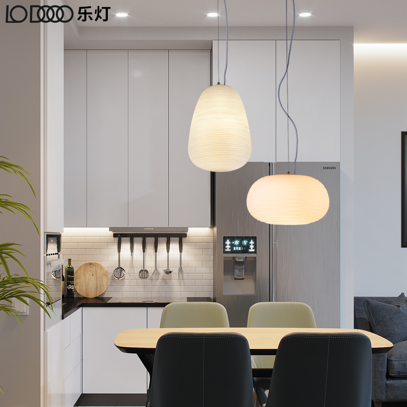 LODOOO Nordic Modern Pendant Lights For Dining Room Bar Restaurant Glass Deco Bedside E27 Hanging Pendant