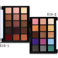 New Eye Makeup Set 15 Earth Color Matte Pigment Eyeshadow Palette Cosmetic Shimmer Eye Shadow Make Up Kit KE15#