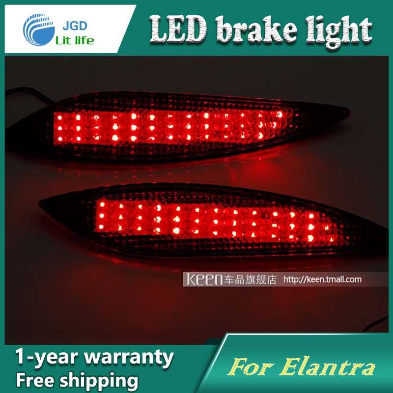 Car Styling Rear Bumper LED Brake Lights Warning Lights case For Hyundai Elantra 2011 Accessories Good Quality car styling rear bumper led brake lights warning lights case for mazda atenza accessories good quality