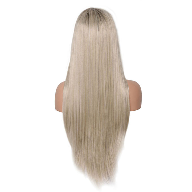 Image 3 - Charisma Glueless Wig Straight Hair Ombre Blonde Lace Front Wig Short Brown Roots Full Density Synthetic Wigs For Black Women-in Synthetic None-Lace  Wigs from Hair Extensions & Wigs
