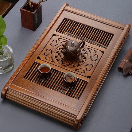 Plateau à thé classique en bois d'aile de poulet Table à thé en bois de rose pour la maison