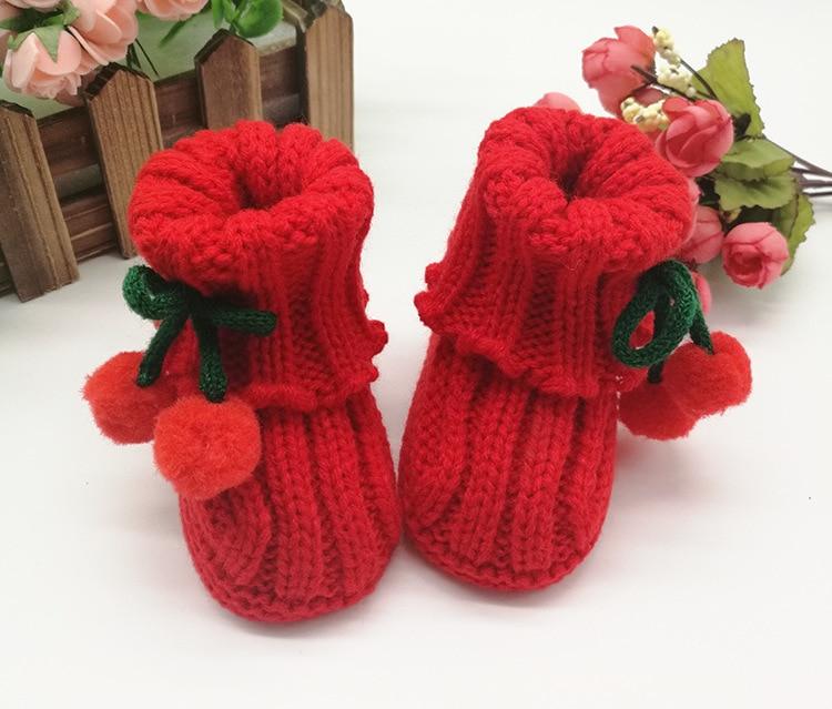 Cute Handwoven Newborn Baby Girl Boy Crochet Knitting Toddler Crib Shoes Boots Baby Shoes