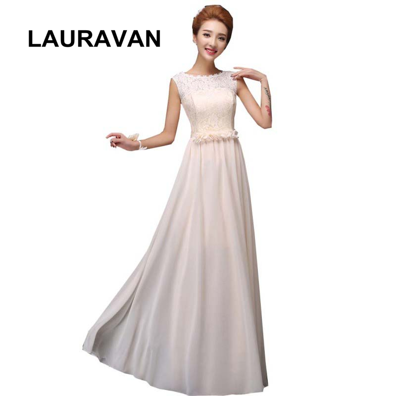 elegant long gown 2018 floral fairy sexy champagne birthday woman ladies   bridesmaid     dresses   formal gowns   dress   chiffon style