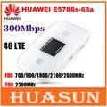 Desbloqueado 300 mbps huawei e5786 e5786s-63a 4g lte cat6 móvil wifi hotspot modem router inalámbrico