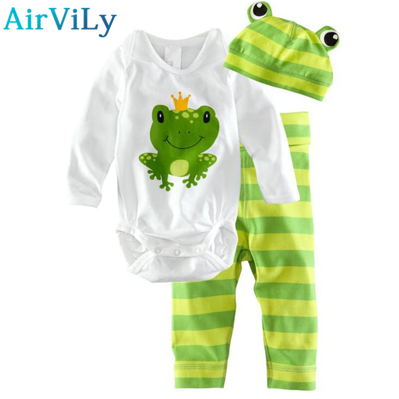 2016 Hot Newborn Baby Girl Clothing Set (Romper+Hat+Pants 3 pcs) Baby Boys Cartoon owl Clothes Baby Set Rompers Roupas Bebes newborn baby boy girl 5 pcs clothing set cotton cartoon monk tops pants bib hats infant clothes 0 3 months hight quality