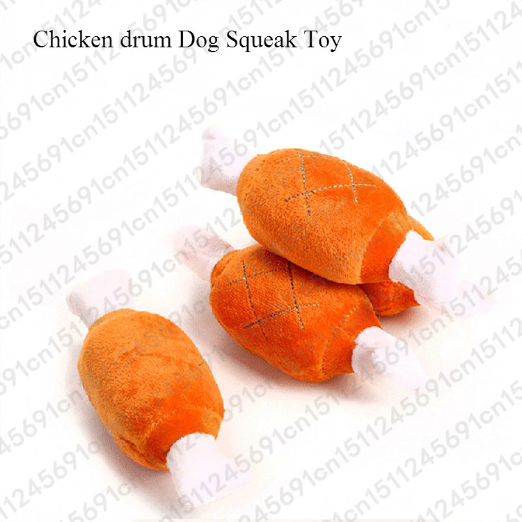 1pc Fruit Vegetable Chicken Drum Bone Squeak Toy For Dog Puppy Plush Red Pepper Eggplant Radish Duck Sounding Pet Toys 3